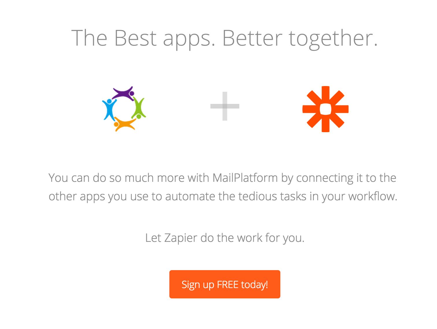 eMailPlatform Zapier