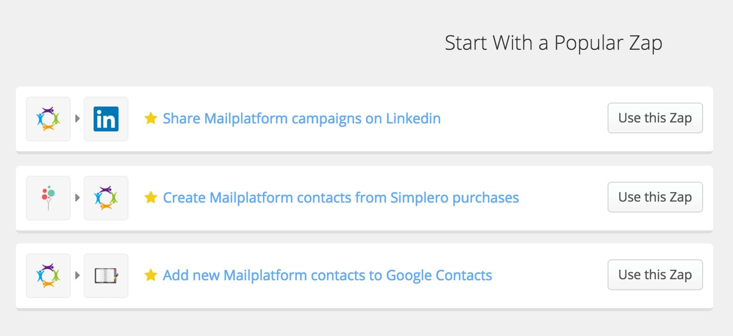 eMailPlatform zapier-zap1