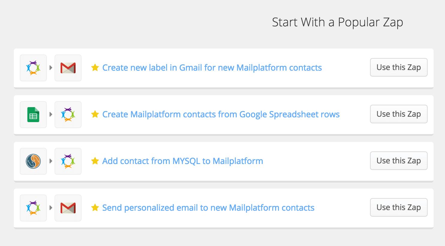 eMailPlatform zapier-zap2