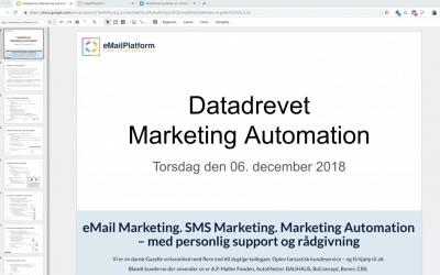 Webinar: Datadrevet Marketing Automation