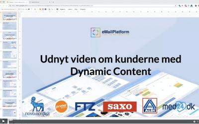 Webinar: Udnyt viden om kunderne med Dynamic Content